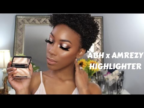 ABH X Amrezy Highlighter SWATCH Eyeshadow Tutorial
