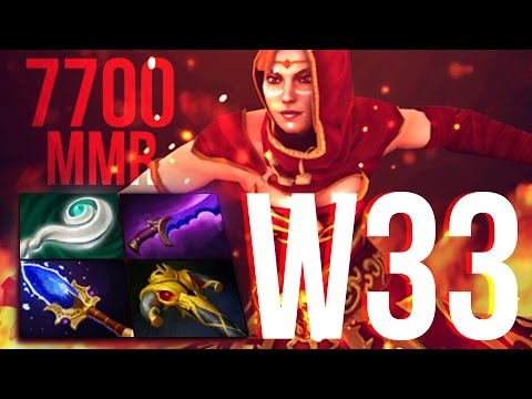 w33 Lina 7700+ Ranked Gameplay