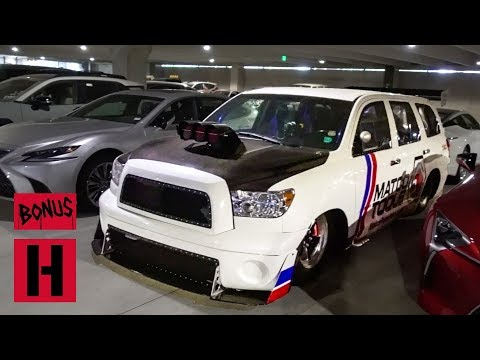 Larry Tours Toyota HQ Texas With the Pros!