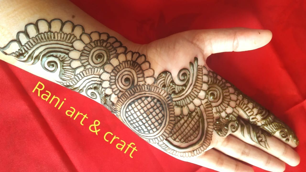 front hand mehndi design 2021 simple