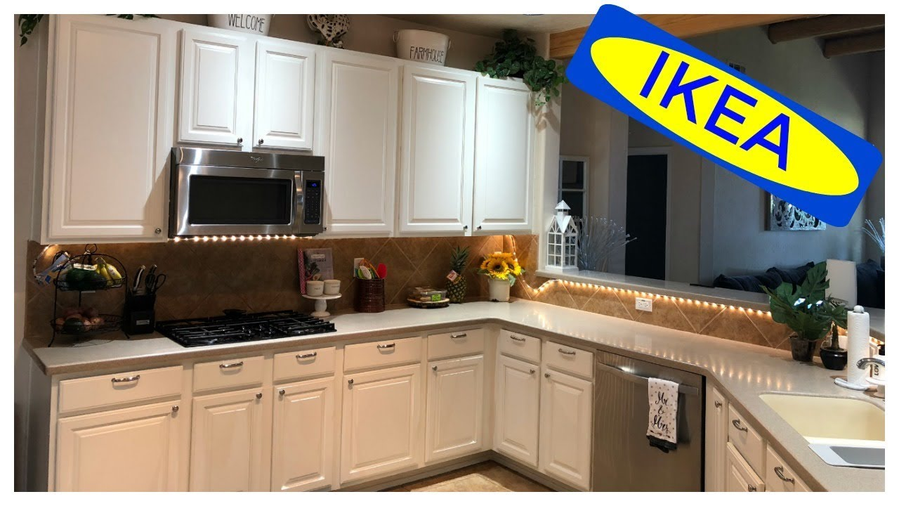 Kitchen Hutch Ikea | How To Paint Kitchen Cabinets Ikea Inspired Kitchen Youtube