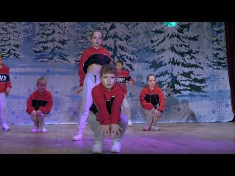 Современный танец от студии ШАГ ВПЕРЁД на Новогоднем концерте в Истре 2019