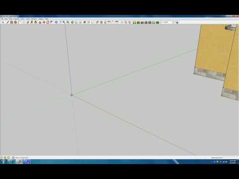 SketchUp: 3D warehouse, scaling, making sections and plans