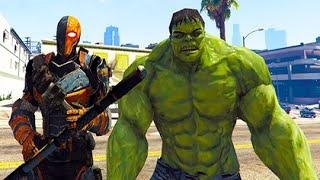 Gta 5 mods - deathstroke vs hulk! (gta 5 mod gameplay)