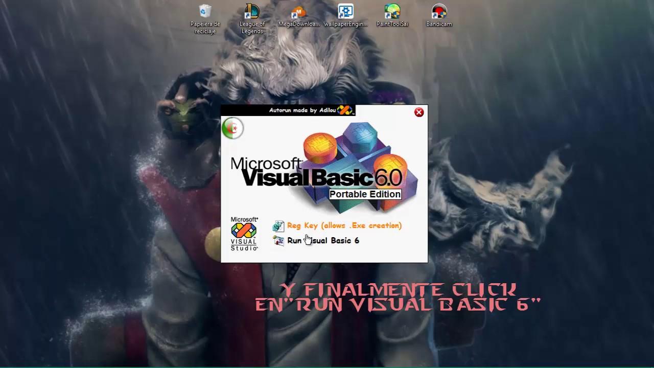 visual basic 6.0 windows 10