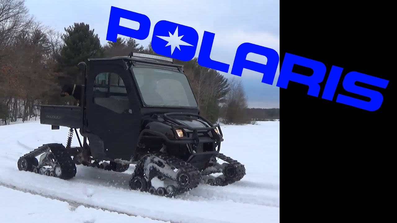 2016 Polaris Ranger >> Polaris Ranger 6x6 Prospector Tracks by Camoplast Driving - YouTube