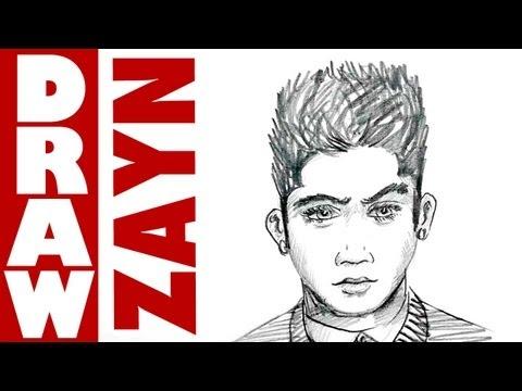 How To Draw Zayn Malik From One Direction