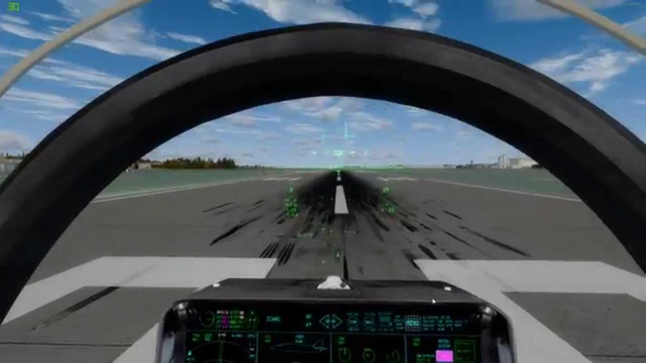 01/02)Default F-35 Prepar3d v2 5 maxed out settings flight