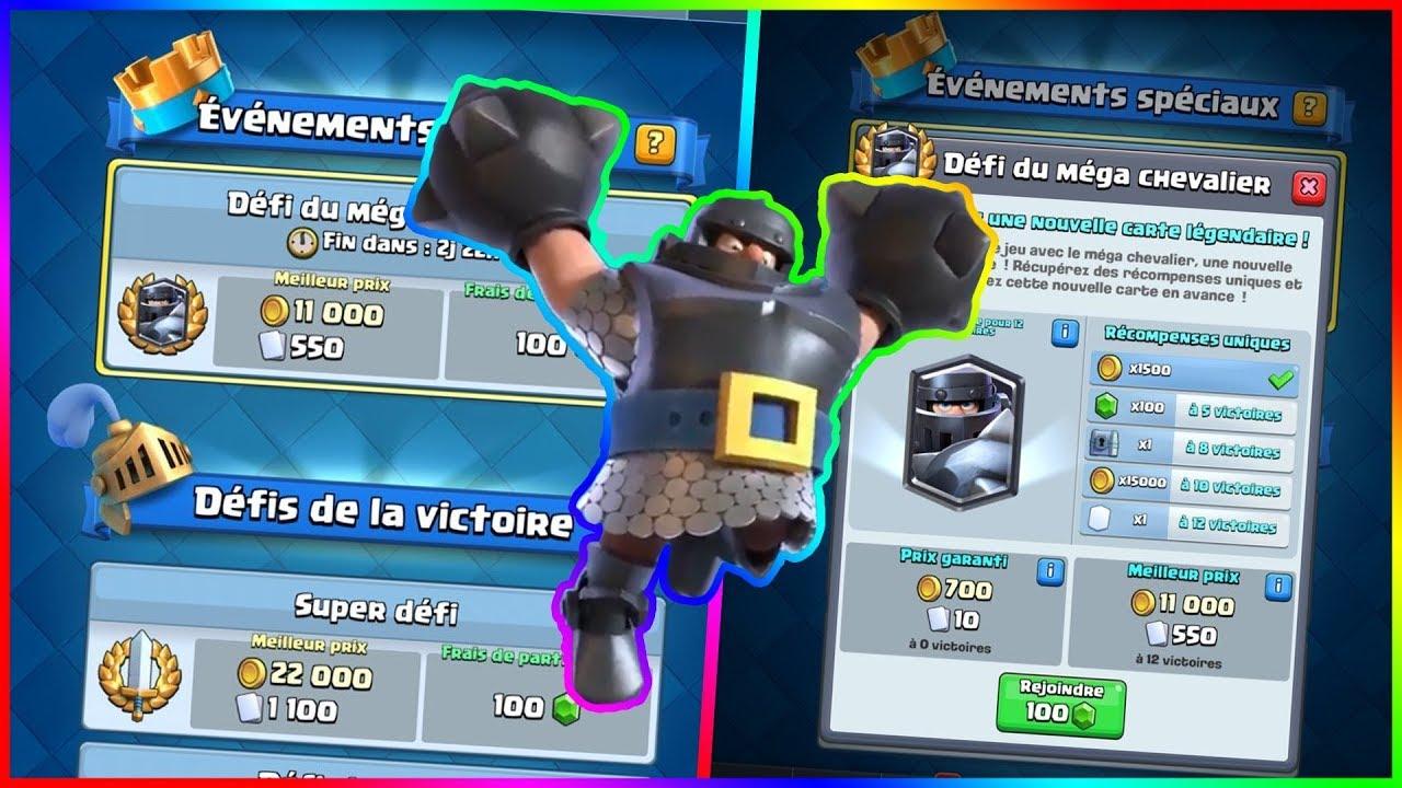 Clash Royale Remporter Le Defi Du Mega Chevalier Youtube