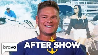 Ashton Falls Overboard Then Shares Who He Has His Eye On | Below Deck After Show Part 1 (S6 Ep10)
