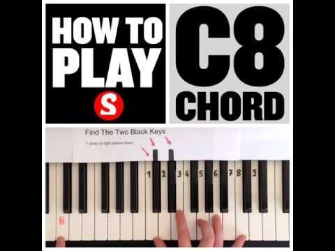 How To Play A C8 Chord On The Piano 15 Sec Tutorial Youtube