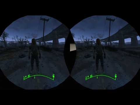 Fallout 4 VR Part 114   Fighting Slough   Headset 3D Cardboard First Time Play