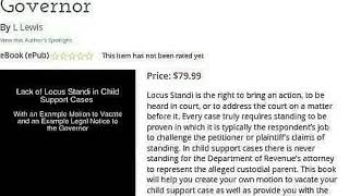 Lack of Locus Standi in Child Support Cases (Book)
