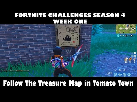 Follow The Treasure Map Found In Tomato Town   Week 1 Fortnite Challenges