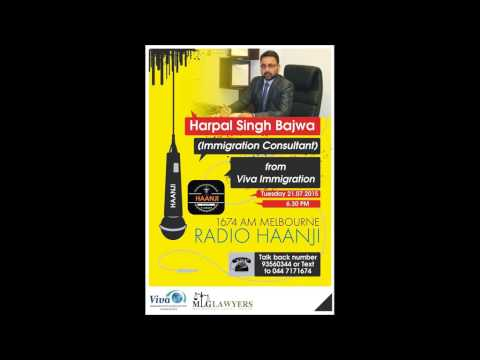 Special interview on Immigration with Viva Immigration -  Radio Haanji 1674AM
