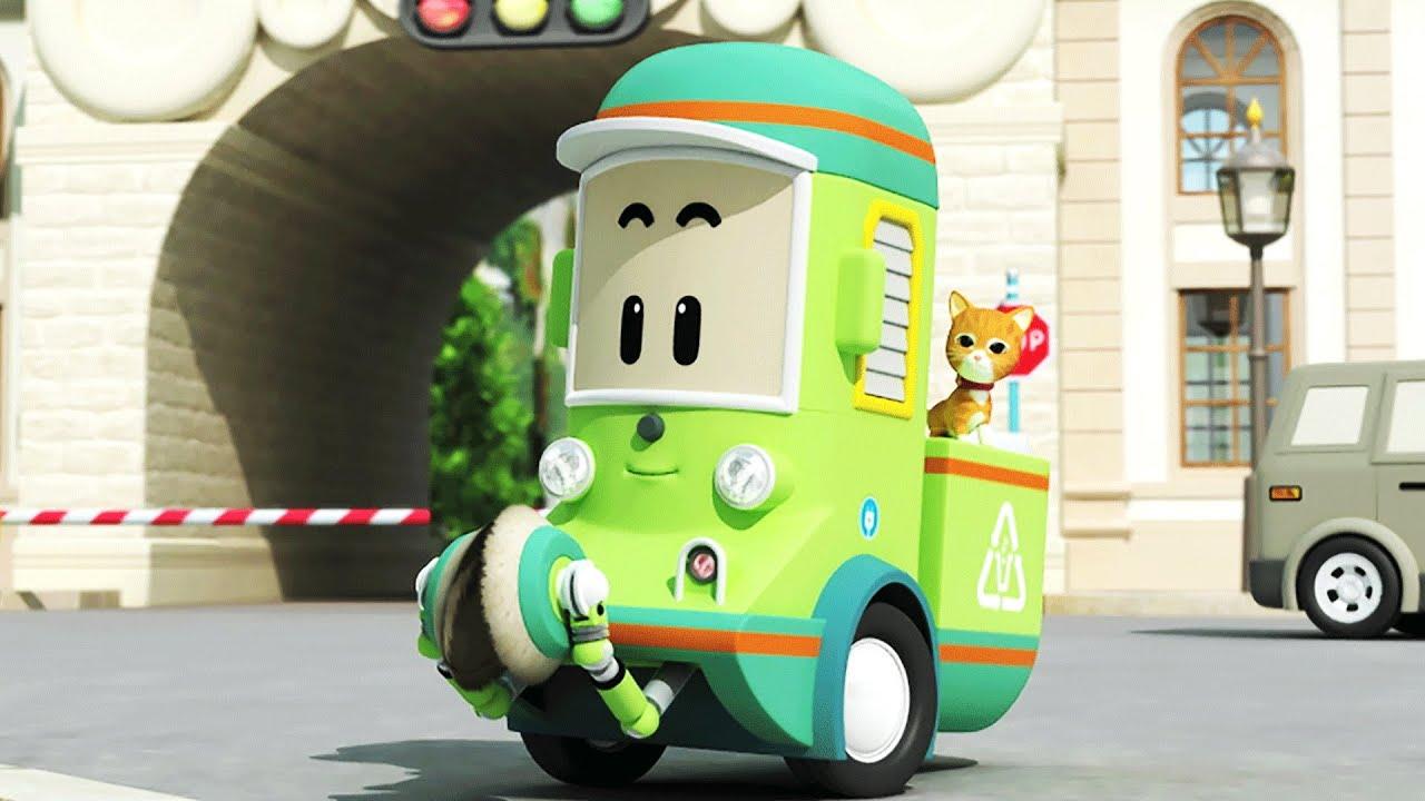 掃除車クリニースペシャル   ロボカーポリー人気キャラクター特集   子供向けアニメー ロボカーポリー テレビ