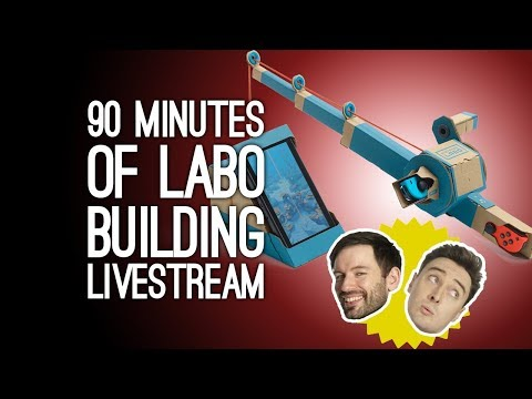 90 Minutes of Labo Building! Let's Build the Labo Fishing Rod on Switch, Plus Q&A With Luke and Andy