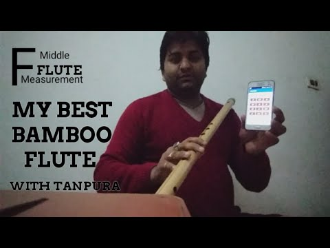 PROFESSIONAL BASS FLUTE MEASUREMENT IN HINDI - FOR BEGINNERS | f scale  bansuri - BAMBU