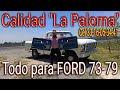 """F 100 Custom Ford 79 Pick Up, Sus Tapas De Puertas, Parrila Joyas Sobre Ruedas L """"la Paloma"""" Ford 79"""
