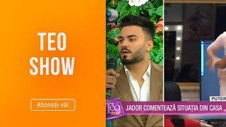 Teo Show - Jador, despre altercatia dintre iubita lui, Simina, si Roxana! Ii ia sau nu apa ...