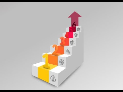 How to make 3d stairs infographic in PowerPoint. PPT tricks.