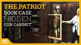 The Patriot Large Bookcase with Hidden Gun Cabinet will keep your firearms safely concealed on the hidden gun rack behind the