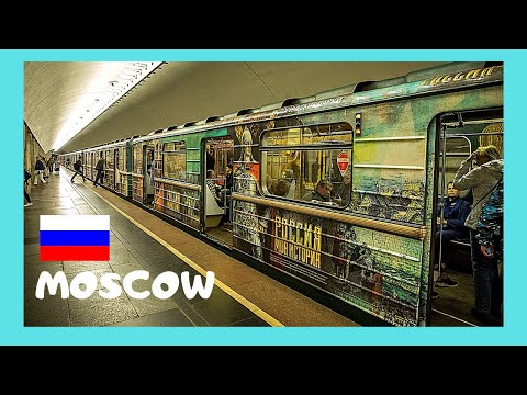 Riding Moscow's fascinating metro (underground, subway), Russia