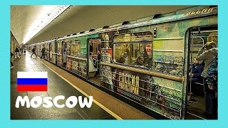 MOSCOW: Riding the fascinating METRO (UNDERGROUND, SUBWAY) in RUSSIA