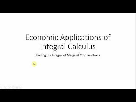 Economic Applications of Integral Calculus (Part I)