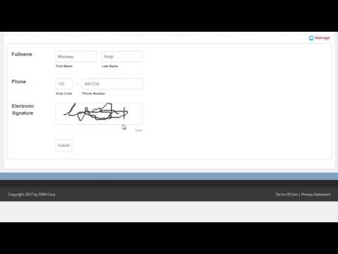Electronic Signature: Live Forms Extension - Getting Started