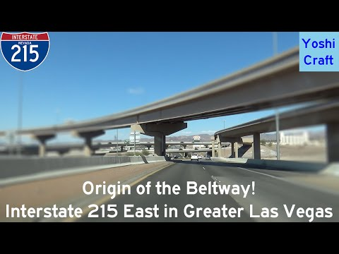 (2-2) Origin of the Beltway! Interstate 215 East in Las Vegas/Henderson