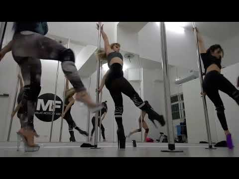 Pole Exotic Dance Routine High Heels Shoes Fitness Sport   #Poledancer #spin