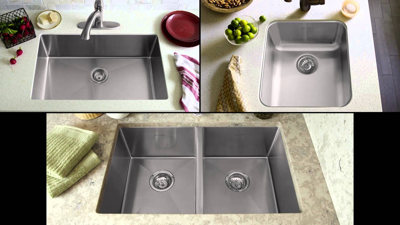 Prevoir Stainless Steel Kitchen Sinks by American Standard - YouTube