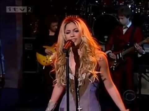 Download Shakira - Underneath Your Clothes (Live On Letterman 2002)