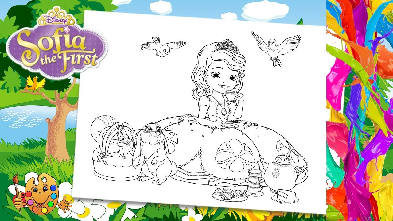 Sofia the First with friends Clover, Mia, Robin ...