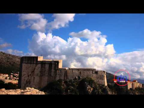 Clouds bursting over the Dubrovnik city walls