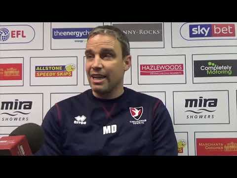 Michael Duff on the Robins away game at Crawley Town