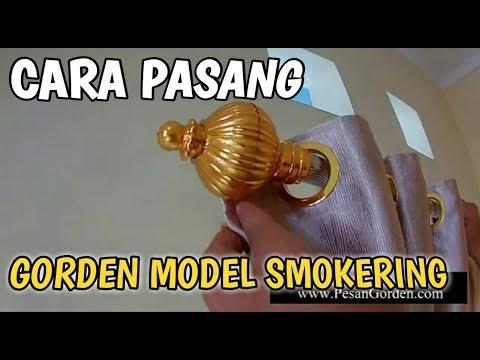 Tutorial Cara Pemasangan Gorden Model Smokering Ke Rel Bulat 0852 8765 1175
