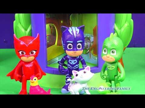 PJ Masks Team Transform into Playdoh Pets from Transforming Tower