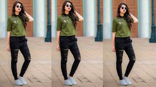 photo poses for girls in jeans | jeans photoshoot ideas for girl | jeans photo poses for girl /sirim screenshot 2