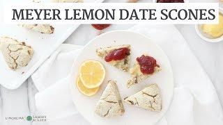 Meyer Lemon Date Scones | Quick Healthy Recipe | Limoneira