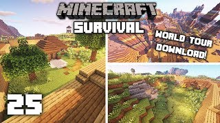 Minecraft 1.14 Survival Let's Play -WORLD TOUR & DOWNLOAD | Ep 25