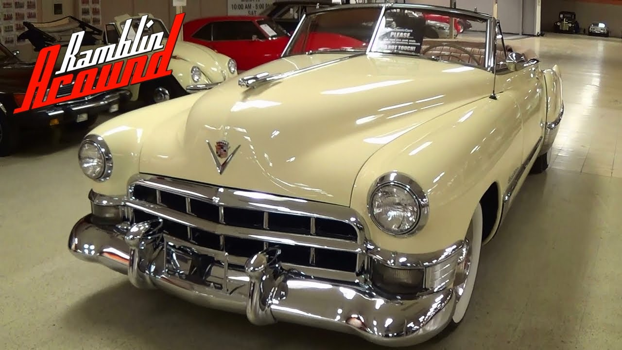 1949 Cadillac Series 62 Convertible 331 V8 - YouTube