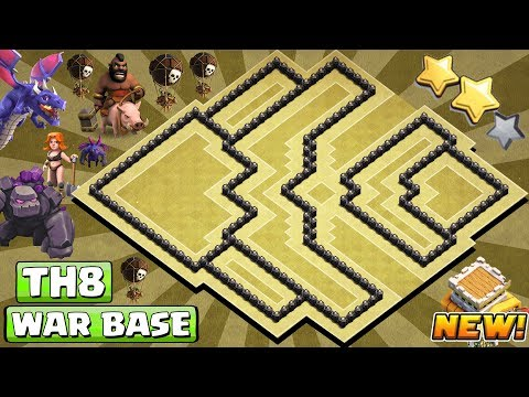 [#1 BEST] Th8 War Base 2018 | COC Town Hall 8 War Base Anti 3 Star | CLASH OF CLANS