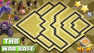[#1 BEST] Th8 War Base 2018   COC Town Hall 8 War Base Anti 3 Star   CLASH OF CLANS