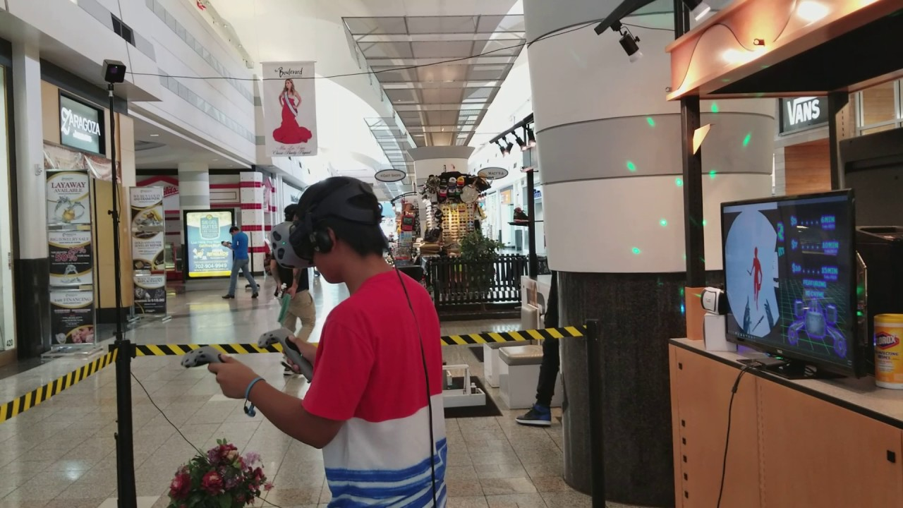 b2e14c3756 My Brother s First Time Doing VR at the Vegas VR booth in the Boulevard Mall
