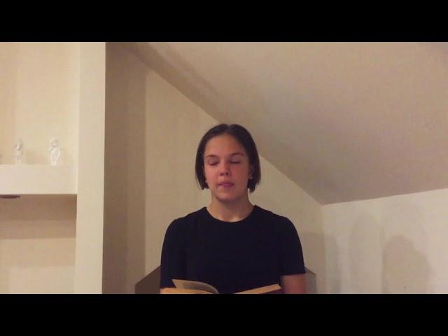 Изображение предпросмотра прочтения – ДарьяСергеева читает произведение «Твое лицо мне так знакомо» А.А.Блока