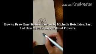 How to Draw Stylized Leaves - Bible Art Journaling