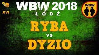 bitwa RYBA vs DYZIO # WBW 2018 Łódź (1/2) # freestyle battle