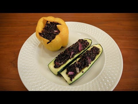 Organic Healthy Life - Quinoa Stuffed Bell Peppers and Zucchini